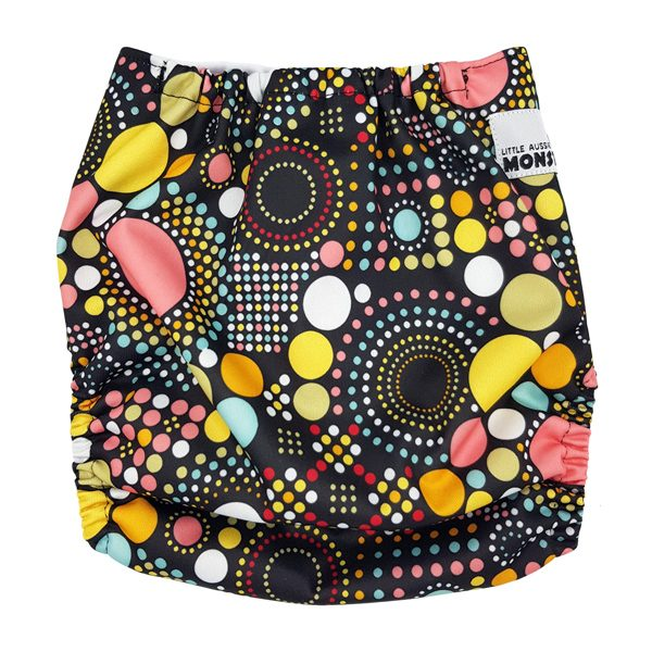 Dots and Spots Cloth Nappy Back