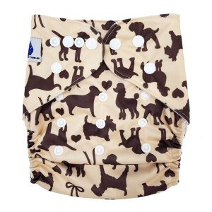 Brown Dogs Cloth Nappy Front