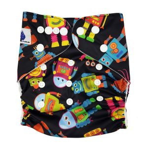 Rad Robots Cloth Nappy Front