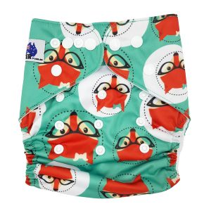 Green Fox Cloth Nappy Front