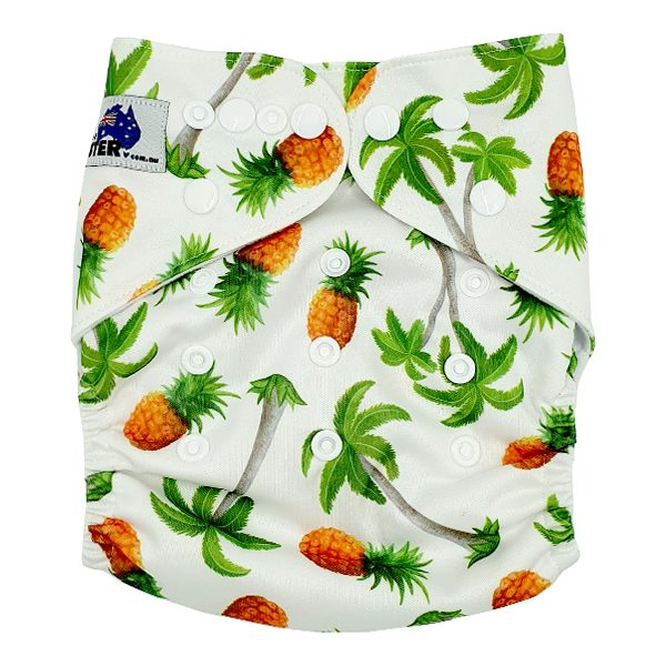Pine Palm Cloth Nappy Front