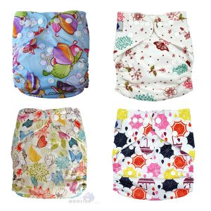4 Pack Girl Cloth Nappies