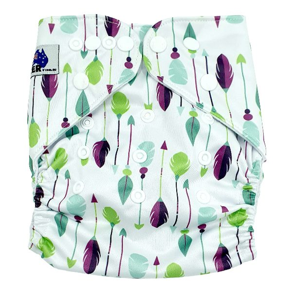 Feather Arrows Cloth Nappy Front