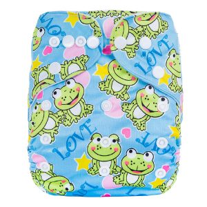 Love Frog Cloth Diaper Front
