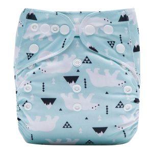 Polar Bear Cloth Nappy Front