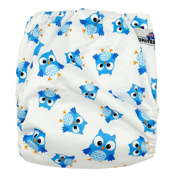 Blue Owls XL Junior Cloth Nappy Back