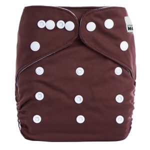Dark Brown Solid Cloth Nappy