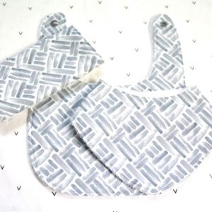 Grey Lines 3 piece bib set