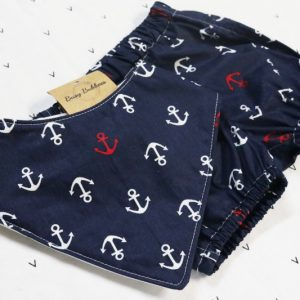Navy Sailor Bloomer Set with Bib