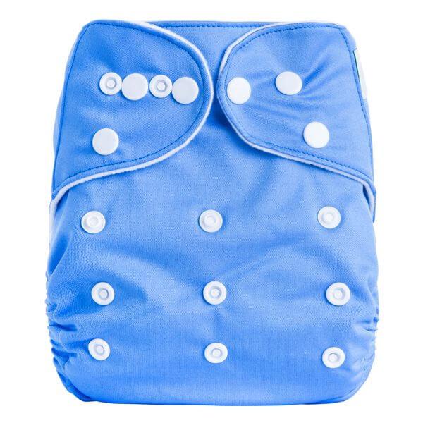 Med Light Blue cloth nappy