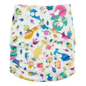 Mermaid Fish Cloth Nappy Front