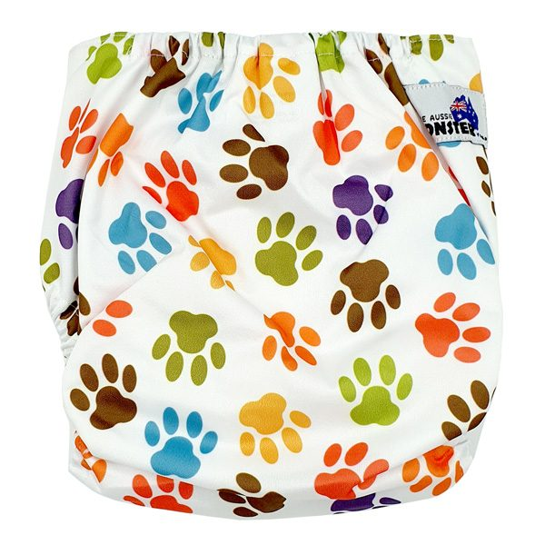 Paw Print Junior XL Cloth Nappy Back