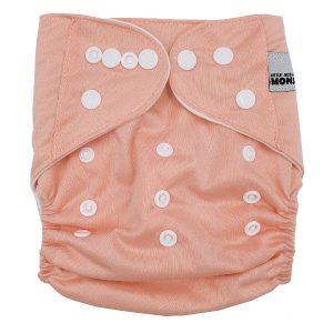 Blush Plain Colour Cloth Nappy Front