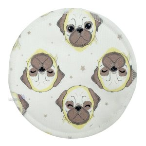Pug Dog Bamboo Breast Pad single