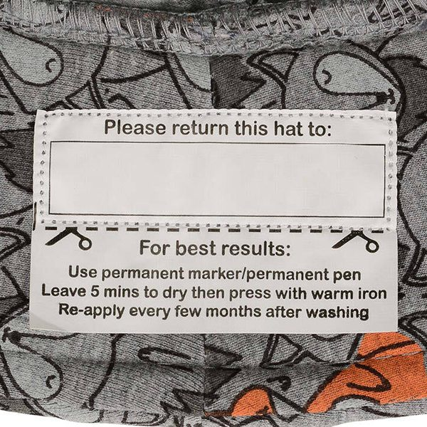 Foxy Baby Bucket Hat Tag