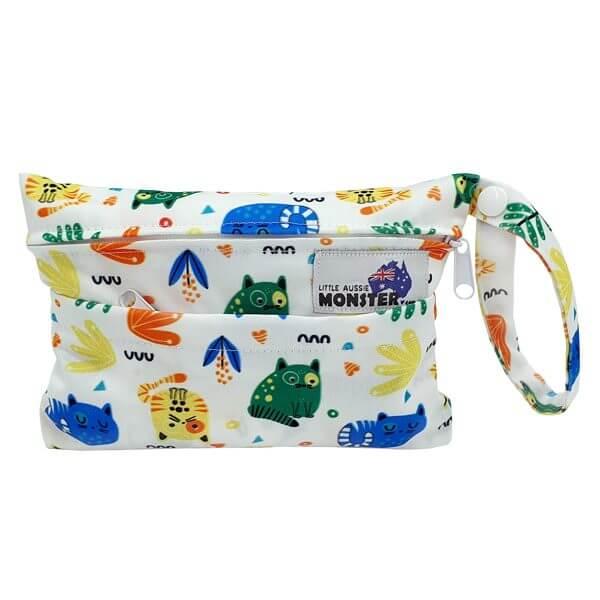 Mini Wet Bag Colourful Cats