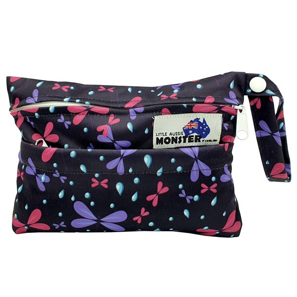 Mini Wet Bag Purple Dragonflies