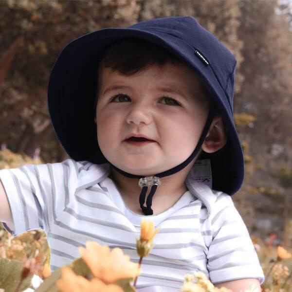 Navy Baby Bucket Hat