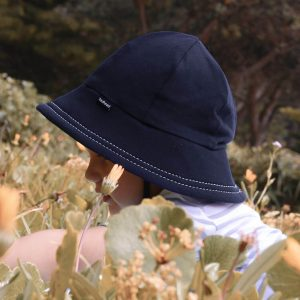 Navy Baby Bucket Hat side