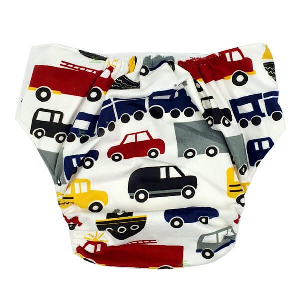 Adult Cloth Nappy Minky Cars Back