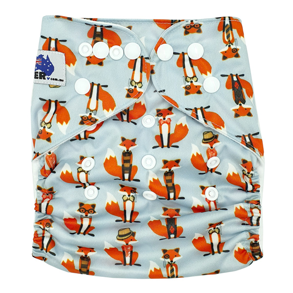 Clever Fox Modern Cloth Nappy Front