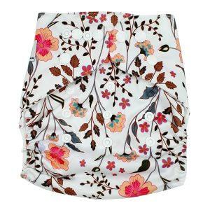 Flower Garden Modern Cloth Nappy Front