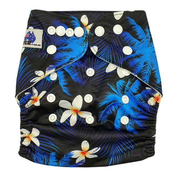 Frangipani Modern Cloth Nappy Front