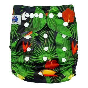 Hibiscus Modern Cloth Nappy Front