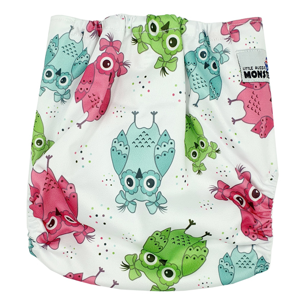 Pigtale Owls Modern Cloth Nappy Back