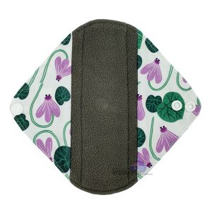 Sanitary Pad Liner Purple Water Lily Front