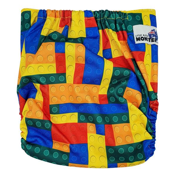 Toddler XL Cloth Nappy Lego Bricks Back