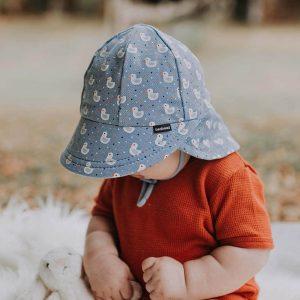 Baby Flap Hat Cute Ducks Side