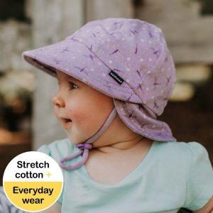 Baby Flap Hat Flutter Side