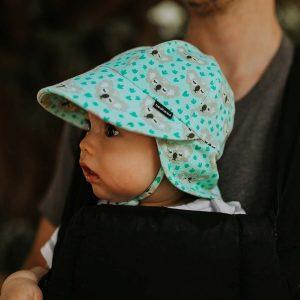 Baby Flap Hat Koala Side