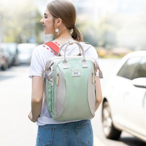 Large Backpack Green on Lady