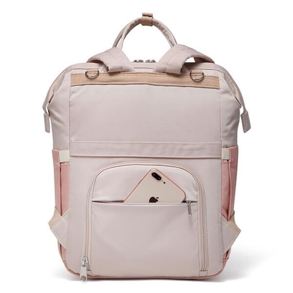 Large Backpack Pink Open Back Pocket