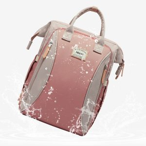 Large Backpack Pink Open Front Waterproof
