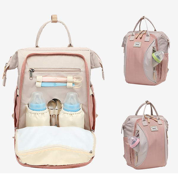 Large Backpack Pink Open Front