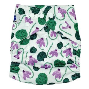 Lily Pad Modern Cloth Nappy Front