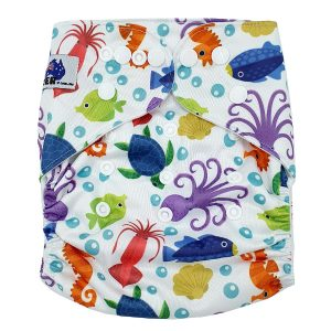 Sea Creatures Modern Cloth Nappy Front