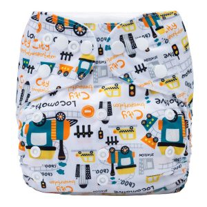 Trains Car Cloth Nappy Front