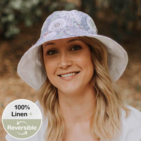 Ladies Reversible Sun Hat Prairie Front