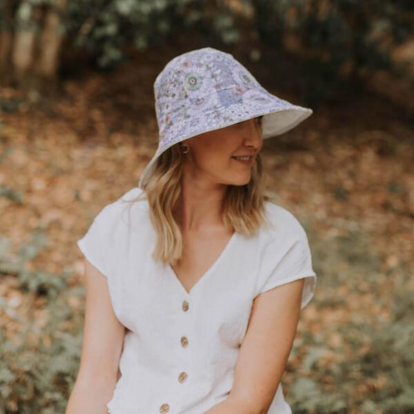 Ladies Reversible Sun Hat Prairie Side