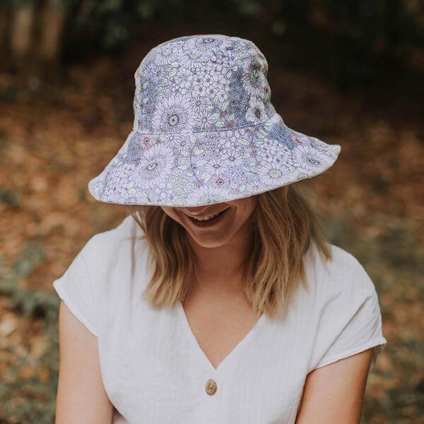 Ladies Reversible Sun Hat Prairie Top