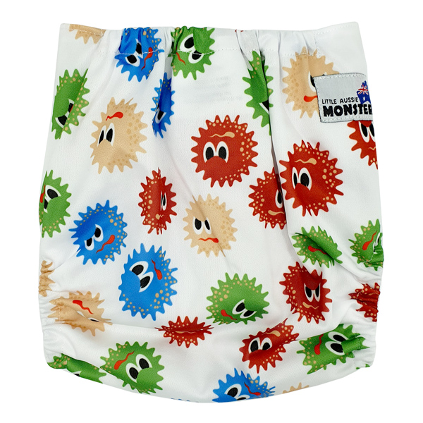 Virus COVID Modern Cloth Nappy Back