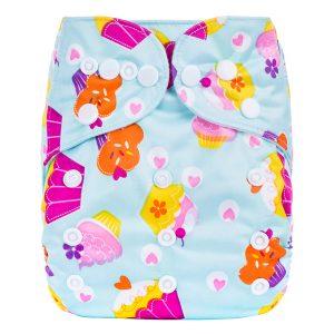 Aqua Cupcakes Cloth Diaper