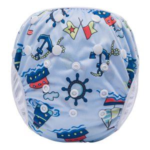 Blue Boats Washable Swim Nappy
