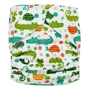 Chameleon Croc XL Toddler Cloth Nappy Front