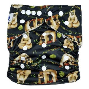 Chill Sloth XL Toddler Cloth Nappy Front