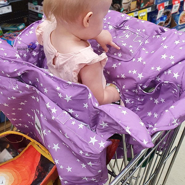 Double Trolley Cover Purple Stars Single Close Up